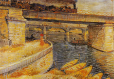 Bridge at Asnieres, Vincent van Gogh