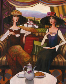 Tea Time, Center Panel, T. C. Chiu
